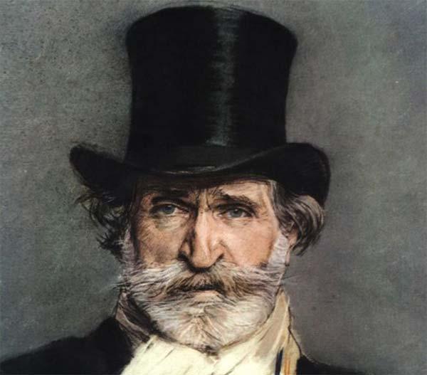 Giuseppe Verdi autore dell'opera La traviata