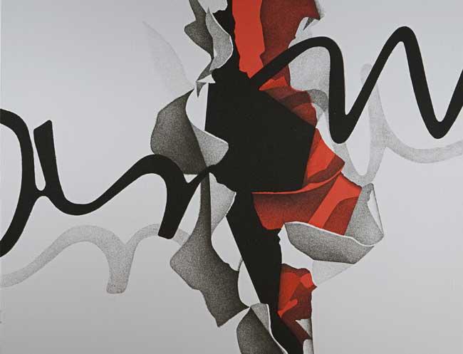Agostino Ferrari, Interno Esterno 2010, cm150x150, acrilico sabbia su tela