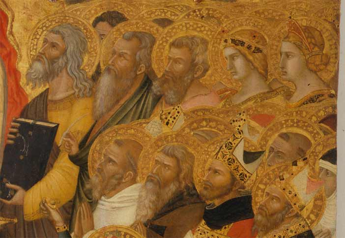 Ambrogio Lorenzetti, La Maestà (particolare)