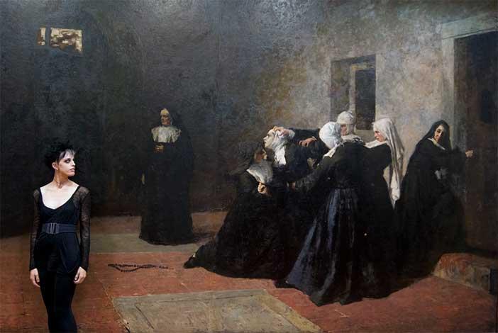 Miriam Colognesi, Giacomo Grosso, La cella delle pazze (1884) GAM, Torino