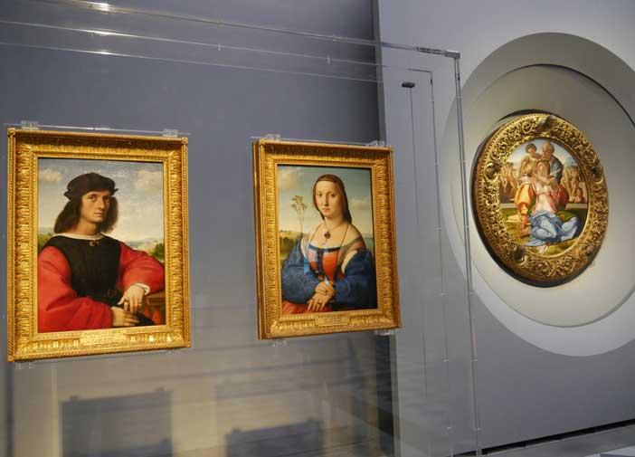 Opere di Raffaello e Michelangelo agli Uffizi di Firenze
