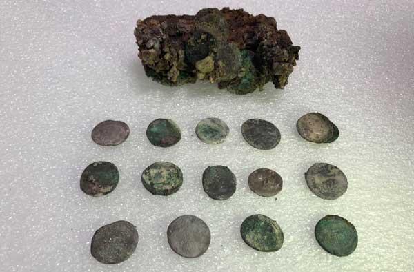 Monete ritrovate a Pompei