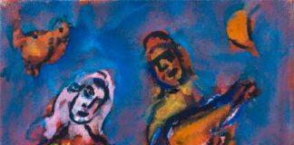 Chagall, Musicien et danseuse
