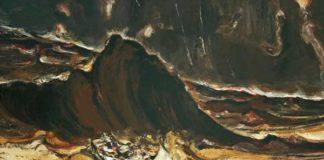 Duan Zhengqu, Fiume Giallo, 2003, Olio su tela, 150x180 cm