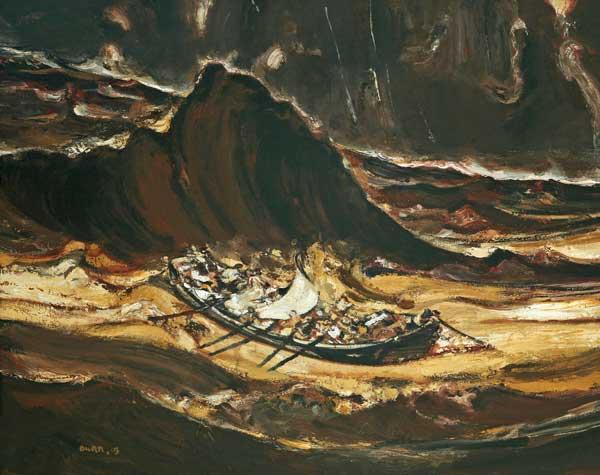 Duan Zhengqu, Fiume Giallo, 2003, Olio su tela, 150x180 cm - Mostra Risonanza cinese