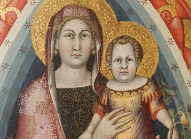 Mello da Gubbio, Pala di Agnano (particolare), Gubbio, Museo Diocesano