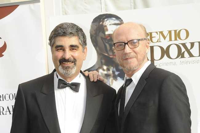 Orazio Anania e Paul Haggis - premio Apoxiomeno Award
