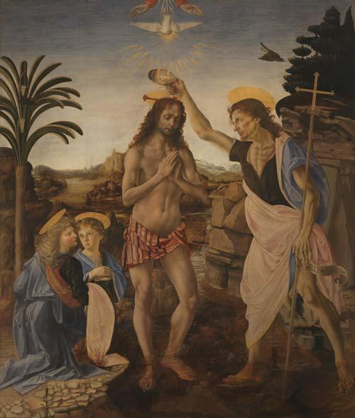 Leonardo da Vinci (Vinci 1452 – Amboise 1519), Adorazione dei magi, circa 1481-1482, olio su tavola