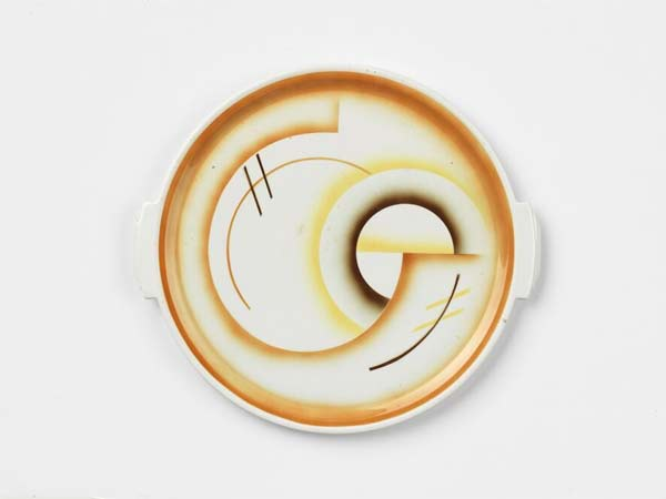 Ceramiche, Piatto per torte, 36 ø x 3 cm, Steingutfabrik Grünstadt AG, circa 1930 - collezioni di Massimo De Carlo