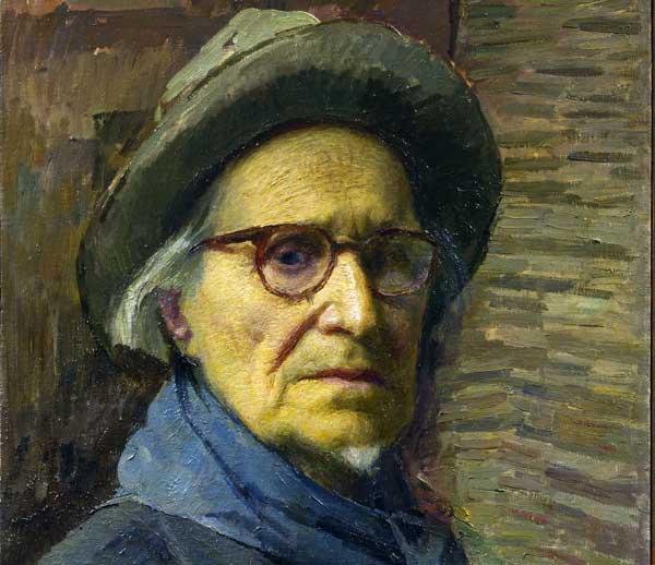 Carlo Fornara, L'ultimo autoritratto [1961-62] olio su tela Collezione privata