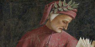 Dante, affresco di Luca Signorelli, 1499-1502, particolare, Duomo di Orvieto