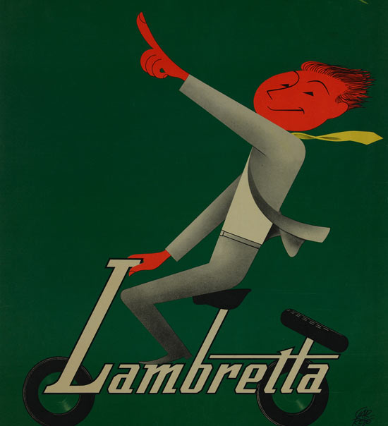 Paolo Federico Garretto, La nuova Lambretta, 1950-1955 - Manifesti pubblicitari