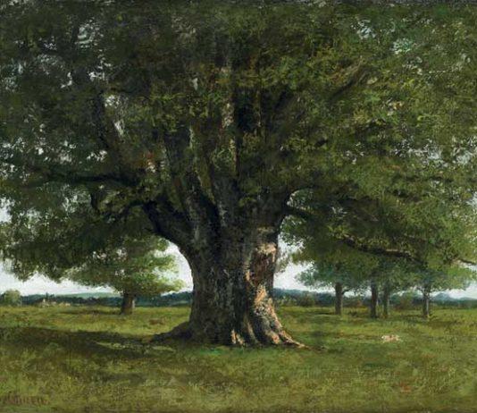 Gustave Courbet: La quercia di Flagey, 1864, Olio su tela, cm 89 x 111,5 Ornans, Musée Gustave Courbet © Musée Courbet