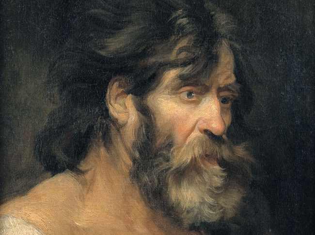 Antoon van Dyck, Testa di carattere 1613-21 olio su tela, 64,7x50,5 cm