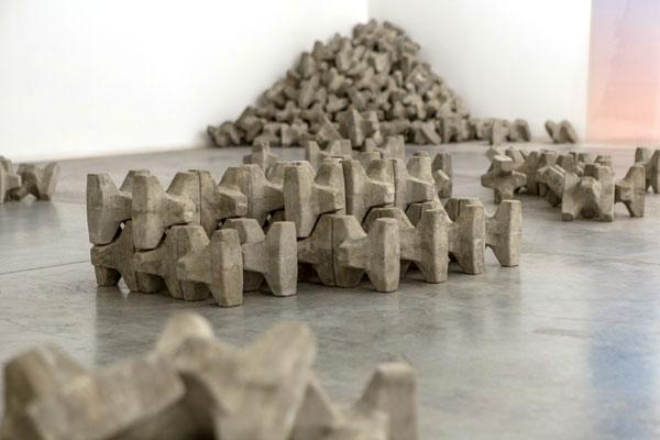 Caline Aoun, Rhythm Breakers, 2015, Concrete, Dimensions variable, Photo credit: Musthafa Aboobacker