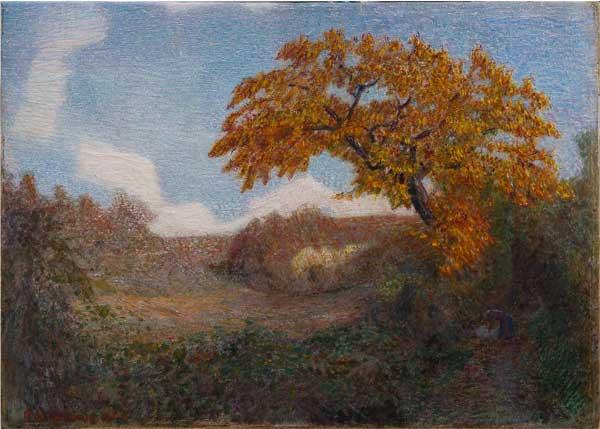 Giuseppe Pellizza da Volpedo, Valletta a Volpedo, olio su tela 40 x 56 cm