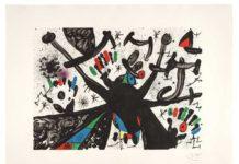 Joan Mirò, Homenatge a Joan Prats n 3, litografia a colori su carta a mano Guarro, 1971