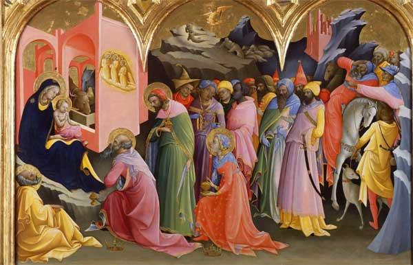 Adorazione dei magi di Lorenzo Monaco agli Uffizi di Firenze