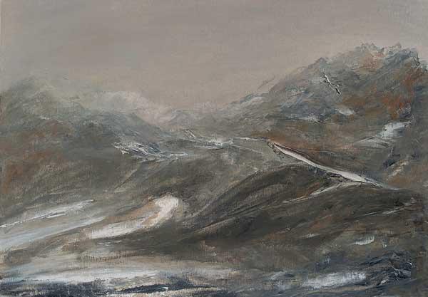 Verena D'Alessandro, Passaggio nella nebbia, olio su cartoncino a grana telata, cm 30x42