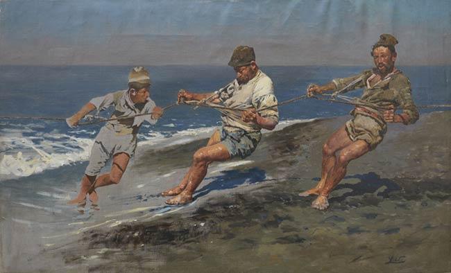 Antonino Leto, La sciavica (Studio), 1887 circa, Olio su tela, 40 x 60 cm, Palermo, Collezione privata, Courtesy Galleria Beatrice, Palermo