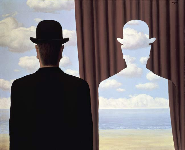 René Magritte, Decalcomania, olio su tela, 81 x 100 cm, 1966, collezione privata, Copyright: Photothèque R. Magritte /Adagp Images, Paris, / SCALA, Firenze, © 2018 C. Herscovici / Artists Rights Society (ARS), New York - Mostra Inside Magritte