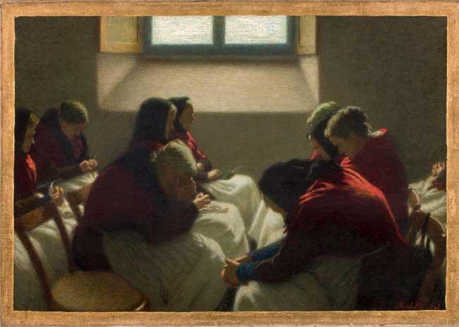 Angelo Morbelli, Sedia Vuota, 1903, olio su tela - Collezione privata