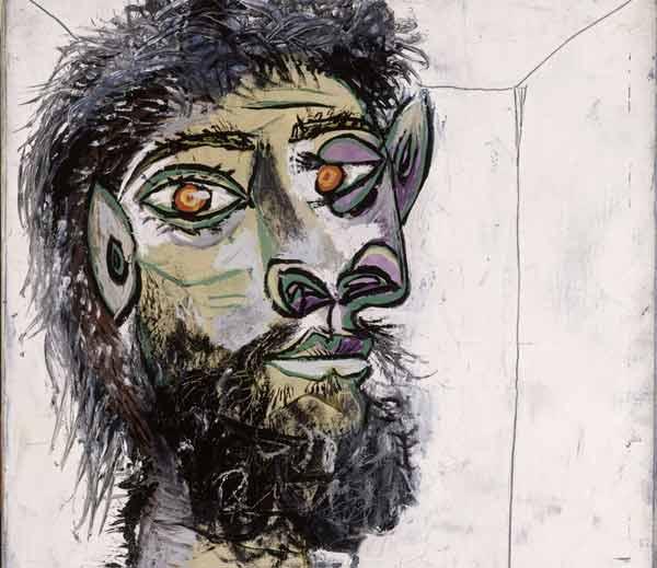 Picasso, Testa di uomo barbuto - Mostra Picasso. Metamorfosi