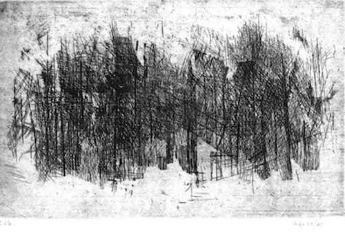 Valentino Vago, Senza titolo (Paesaggio), 1959