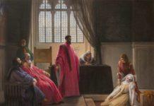 F. Hayez, Valenza Gradenigo davanti ai giudici, 1843-1845, collezione privata