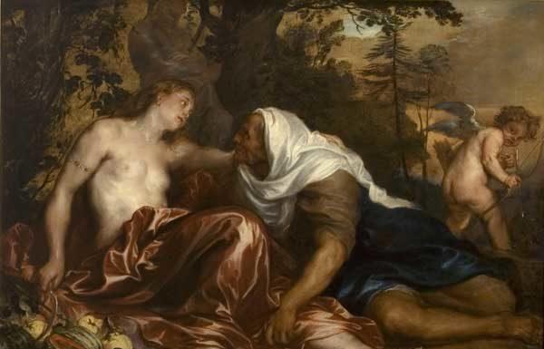 Antoon van Dyck, Vertumno e Pomona, 1623-25, Olio su tela, 142x197,5 cm, Musei di Strada Nuova, Genova