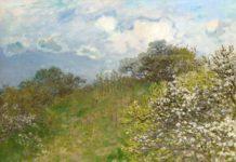 Claude Monet, Primavera, 1875, olio su tela, cm 58 x 78,5 - Mostra Da Monet a Bacon