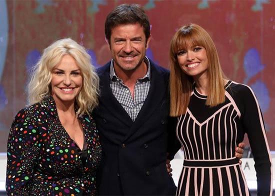 Antonella Clerici, Paolo Conticini e Carlotta Mantovan - Programma su Rai1 Portobello
