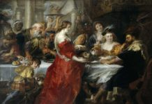 Peter Paul Rubens, (Siegen, Vestfalia 1577 – Anversa 1640), Banchetto di Erode, 1635 - 1638 ca, olio su tela, 208 x 272, Edimburgo, National Galleries of Scotlan