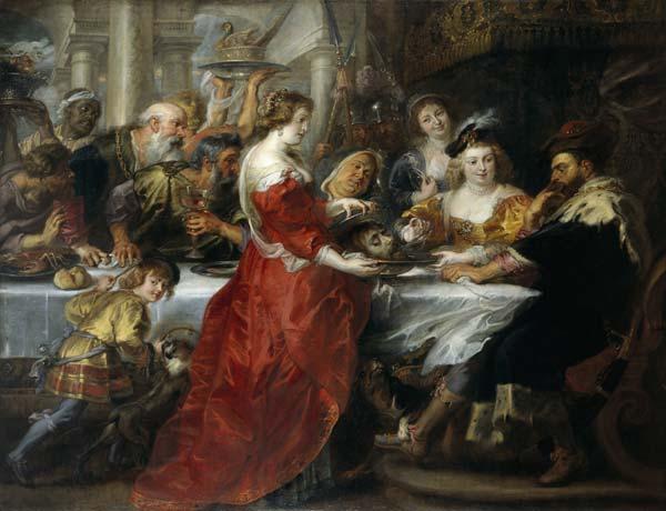 Peter  Paul  Rubens, (Siegen,  Vestfalia  1577  – Anversa  1640), Banchetto  di  Erode,  1635 - 1638  ca, olio  su  tela, 208  x  272, Edimburgo, National  Galleries  of  Scotlan