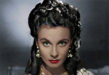 Vivien Leigh, protagonista del film Via col vento