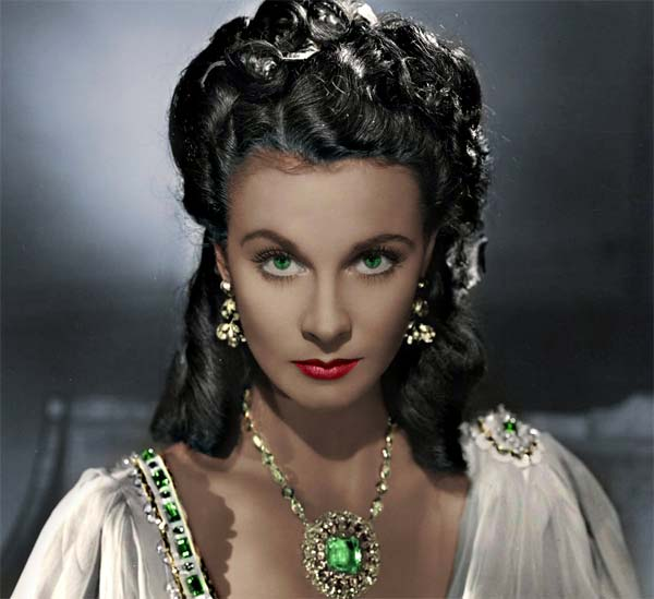 Vivien Leigh, protagonsita del film Via col vento