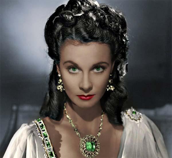 Vivien Leigh, protagonsita del film Via col vento