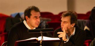 Rigoletto - Daniele Gatti (direttore) e Daniele Abbado (regista) durante le prove - ph Yasuko Kageyama - Teatro dell'Opera di Roma 2018-19