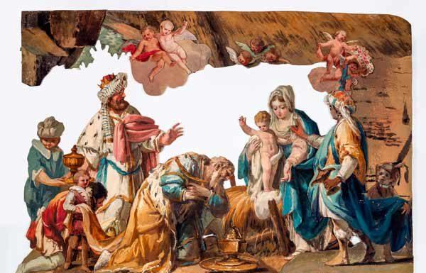 Francesco Londonio, Presepe, Adorazione dei magi, cm. 58 x 80 - Il presepe Londonio