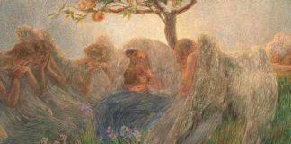 Gaetano Previati, Maternità, 1890-1891, olio su tela, 175,5 x 412 cm, Collezione Banco BPM