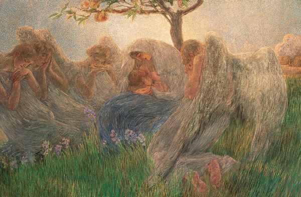 Gaetano Previati, Maternità, 1890-1891, olio su tela, 175,5 x 412 cm, Collezione Banco BPM - Mostra L'amore materno