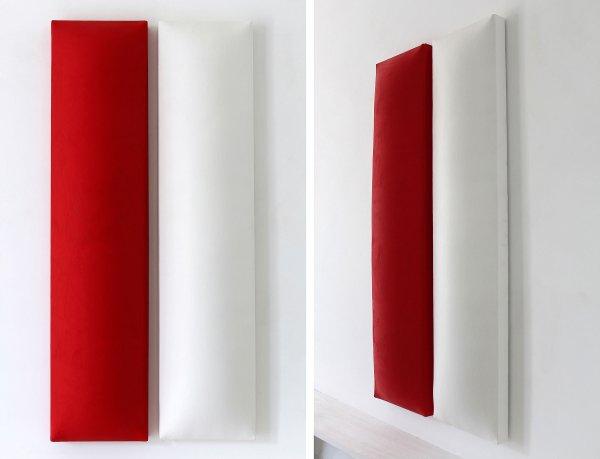Cesare Berlingeri, Dittico bianco e rosso, 2008, Tecnica mista su tela sagomata, cm 65 x 133,5 Photo by Pasquale Minutoli