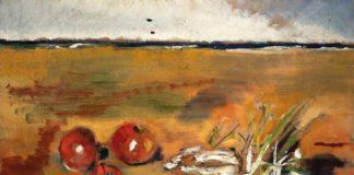"""Filippo de Pisis: Natura morta con agli, 1930 Olio su tela, cm 38 x 60. Ferrara, Museo d'Arte Moderna e Contemporanea """"Filippo de Pisis"""". Donazione Fondazione Giuseppe Pianori"""