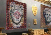 Luca Pignatelli, Persepoli, 2018, tecnica mista su tappeto persiano, cm 345 x 232