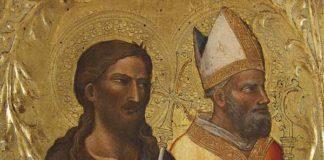 Mariotto di Nardo, i santi Giovanni Battista e san Nicola da Bari; Tempera su tavola, 1420 circa, Acquistato nel 2017 - Mostra Nuove Acquisizioni