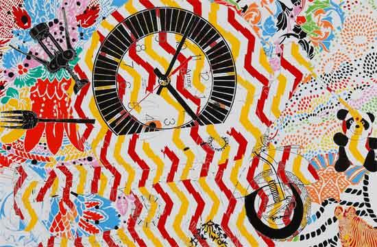 Maurizio Cannavacciuolo, Menina do Rio, calor que provoca arrepio, 2018, olio e smalto ad acqua su tela, 150 x 200 cm