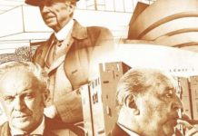 I tre architetti, Frank Lloyd Wright, Mies van der Rohe, Gio Ponti