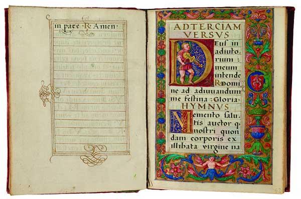 Libro d'ore - antichi volumi