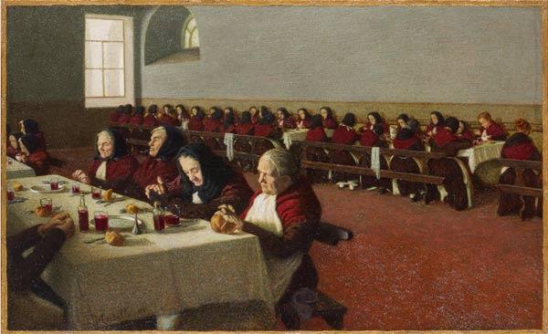 Angelo Morbelli, Entremets. Mi ricordo quando ero fanciulla, 1905, olio su tela, cm 67 x 107