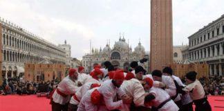 Carnevale di Venezia - Foto lotta tra Nicolotti e Castellani (edizione 2018)